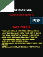 Test Biokimia 2012 Kuliah Karbohidrat i