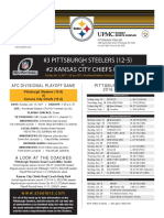 Pittsburgh Steelers At Kansas City Chiefs (Jan. 14)
