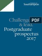 University of Southampton Postgraduate Prospectus 2017