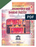 Asiatic Society Catalogue Manuscripts