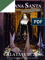 Programa Oficial de la Semana Santa de Catalayud
