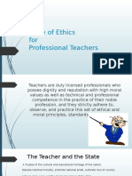 Code of Ethics for Professional Teachers