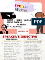 Speech Review