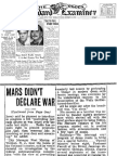(1938 oct. 31) ''War of the Worlds'' - newspaper articles about radio broadcast.pdf