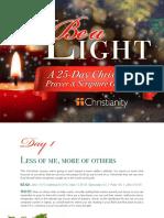 Christmas Prayer Guide Christianity