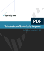Positive Impact Supplier Quality Management