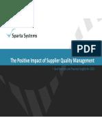 Positive Impact Supplier Quality Management