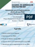 Metodologia PMO PMI Peru Congreso 2007