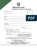 Art Club Form