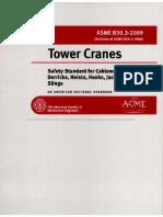 Asme b30.3, 2009, Tower Cranes