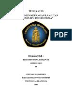 Proses Ipo Pada Stock Exchange Indonesia