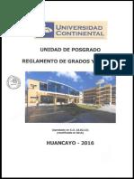 Reglamento de Grados y Titulos Aprobado en Cu 20-02-16