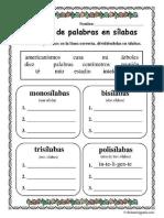 División de Palabras en Sílabas