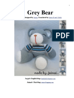 Grey Bear Amigurumi Crochet Pattern