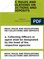 Basic Rules and Regulations on Collections and Deposits