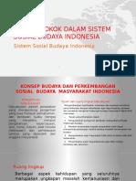 Konsep Pokok Dalam Sistem Sosial Budaya Indonesia