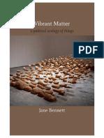 Vibrant Matter for Poetics of Liveliness