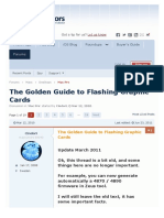 The Golden Guide to Flashing Graphic Cards