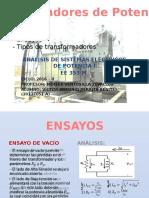 Transformadores de Potencia-Ensayos, Clasificación