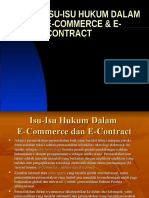 Isu Isu Hukum Dalam e Commerce
