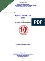TKP Chawnpui Rorel Minute-2016