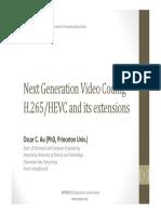 Next Generation Video Coding (by APSIPA)