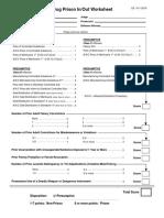 Drug Worksheets 2016