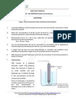 12 Chemistry Electrochemistry Test 01 Answer 8b9m
