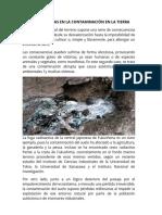 Consecuencias en La Contaminación en La Tierra