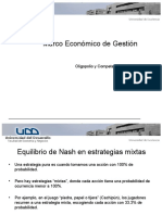 Oligopolio, TeoriaJuegos,Nash, Bertrand Etc