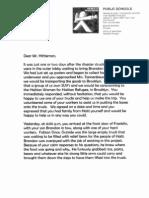 A letter to Steven Hittelman in regards to Haiti Relief