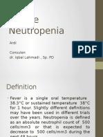 Management of Febrile Neutropenia