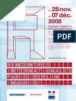 RENCONTRES INTERNATIONALES  Programme Paris 2008