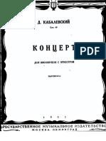 Kabalevskij Cello Concerto SCORE