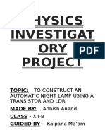 Class 12 Physics Project File