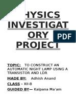 Class 12 Physics Project File
