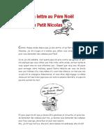 Lettre Au Père Noël Du Petit Nicolas