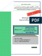 m08 Operations Usinages Manuels Machines Outils Mpvc Btp