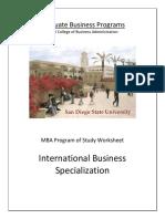 SDSU International Business Specialization