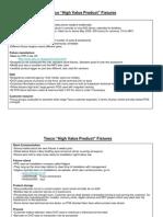 Tesco High Value Fixture Summary