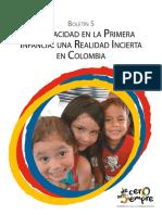 Boletín No. 5 Discapacidad en La Primera Infancia Una Realidad Incierta en Colombia