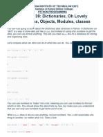 Python Dictionaries