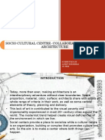 Socio Cultural Centre- Collaboration of Art and Architecture
