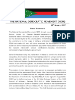 Press Statement on the Creation of Additional States by President Kiir