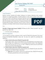 Syllabus - Economic Decision Making - EMGT6225 - Spring 2017 (1)