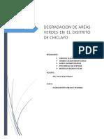 Degradación de áreas verdes - Chiclayo