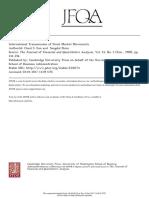 International Transmission of Stock Market Movements