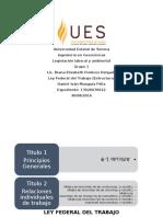 Ley Federal Del Trabajo Estructura