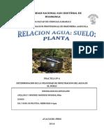 Determinacion de La Velocidad de Infiltracion Del Agua en El Suelo PDF