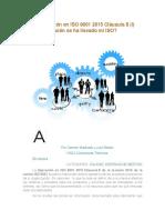 La Operación en ISO 9001 2015 Cláusula 8